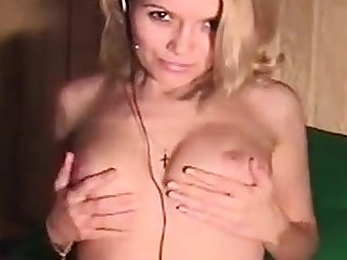 Chubby boobs second-rate blonde slattern stuffed by nympho driver