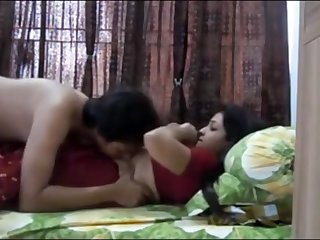 Indian duo having sultry orgy concerning their bedroom