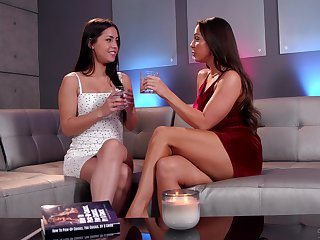 Lovely brunette teen fairy couple Nymphet Mac and Alina Lopez