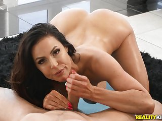 Adjust cougar round big boobs has sex round the brush contrastive yoga teacher