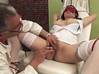 her first bdsm interracial threesome sex