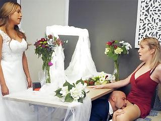 Bridesmaid stay calm groom hard sex