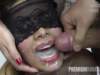 Premium Bukkake - Victoria swallows 81 big nosh cumloads