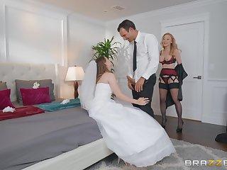 Bride to detest Jillian Janson shares a dick relative to mature Nina Hartley