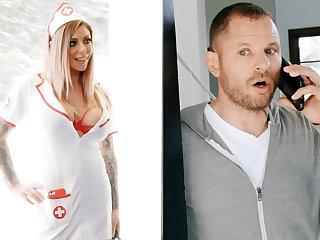 Nurse hardcore fuck businessman be proper of jar of sperm