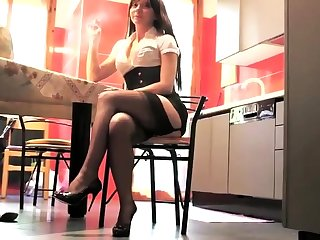 Foot charm and stockings porn