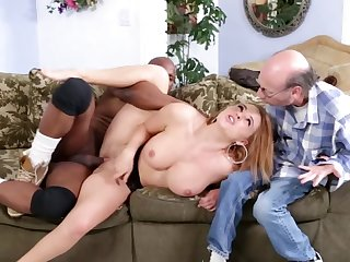 Hot bimbo is in a cuckold interracial video, getting fucked liberally