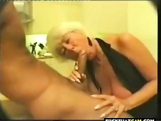 Old slut picked in all directions and does a bj