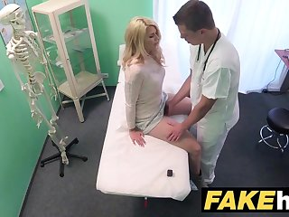 Edict Hospital Brutal doctor gives blonde Czech spoil wet pants
