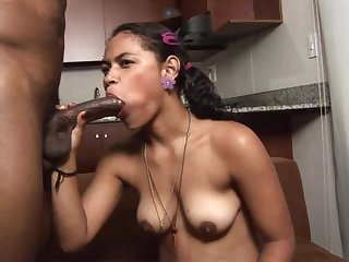 after lovely sex from behind with her lover sultry chick is cautious of cum