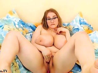 Chubby Cloudy Big Soul Dildo Masturbation