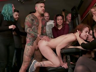 Transparent bitch with tatts Lilyan Overheated is fucked and disgraced regarding public