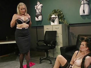 Premium matures in scenes be expeditious for rough femdom at the office