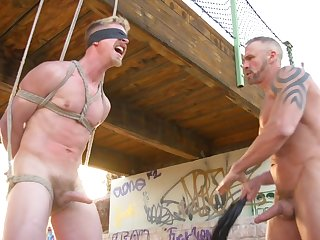 Gay truck waiter ties up and tortures an innocent auto stopper
