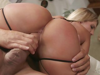 Erotic sex photograph with cum swallowing blonde MILF Candice Dare