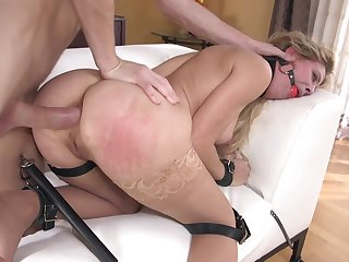 MILF haunted relative to full plus brutal anal tryout