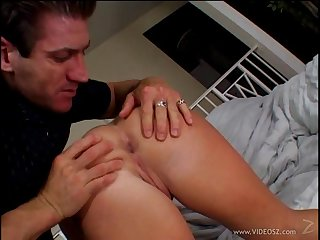 Naughty hot ass sluttie Katja Kassin plays with huge dick in hot blowjob