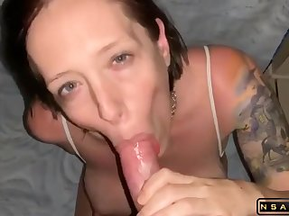 Having a blast on her big boobs afterx she blows me