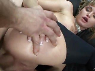 Hardcore anal sex & greedy deepthroating near Anastasya Luna