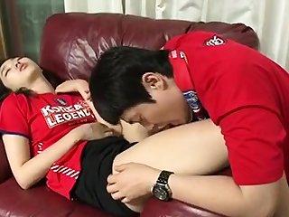 Amateur Korean cuple teen shagging in hotel clip 6