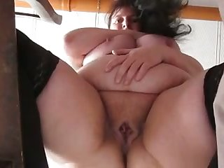 This mature whore has some exact big belly and she masturbates have a fondness a pro