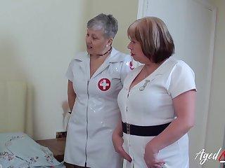 British mature ladies enjoying hardcore threesome sex with horny handy man