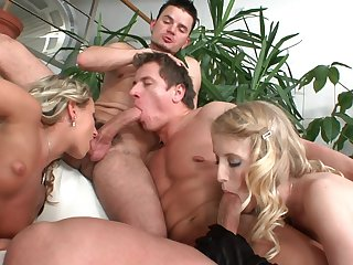 Dirty dudes exalt fucking each other's butts by means of sex all over Lexxxis and Kate