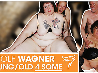 Swinger orgy! MILFs succeed in boned & swallow cum! WolfWagner.com