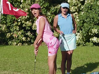 Sexual fantasy down on tap the golf course be expeditious for two top lesbians