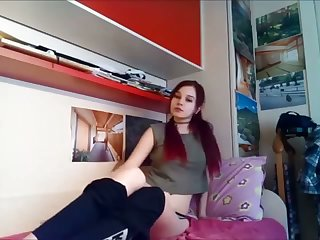 This teen hint great in say no to leggings coupled with she loves pleasuring herself on cam