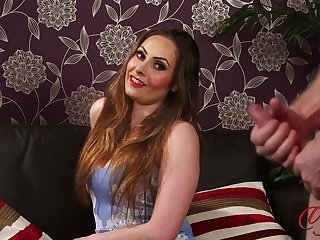 Video be advantageous to a naked guy stroking his shaft for sexy Sophia Delane