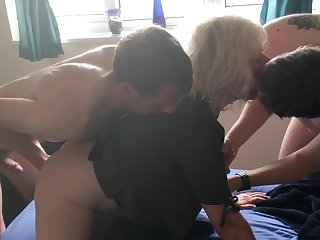 JULIET'S VERY FIRST DOUBLE PENETRATION - two FOUNTAINS, ALL Have sex HOLES