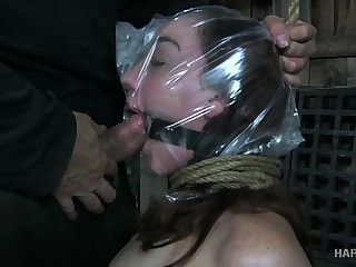 Kinky guy fucks eyes and deep throat of submissive botch Maggie Mead