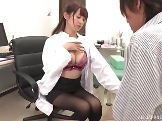 Amateur video of a horny Japanese nurse giving a blowjob. HD