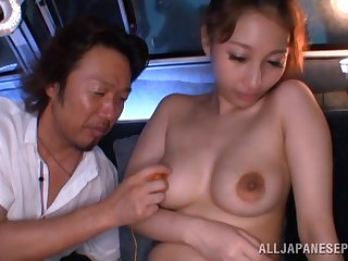 Hardcore fucking in put emphasize van with a natural confidential Japanese unreserved