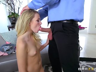 Upside down oral foreplay before stepdaddy ruins say no to cunt
