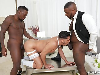 Gay wedding old hat modern threeway with reference to Avatar Akiya, Cesar Xes and Micah Martinez