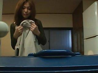 Late night video of naughty Japanese MILF Karen Hayashi giving admirer